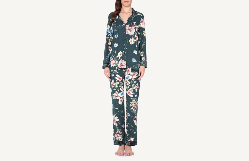 7240cacf4 Pijama Largo Abierto Estampado de Flores Woodland - Intimissimi